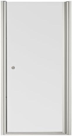 KOHLER K-702414-L-MX Fluence Frameless Pivot Shower Door, Matte Nickel
