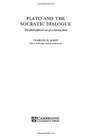 a literary analysis of socratic dialogue by plato Analysis of plato's apology the apology is plato's recollection and interpretation of the trial of socrates (399 bc) in this dialogue socrates explains who he is and what kind of life he led the greek word apologia means explanation -- it is not to be confused with apologizing or being sorry for one's actions.