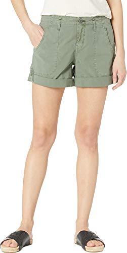 Sanctuary Women's Explorer Patch Pocket Shorts Washed Peace Green 25 7