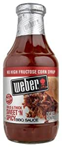 WEBER BBQ SAUCE SWEET N SPICY 18 OZ