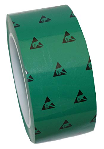 1 Roll UltraTape 2265 Anti-Static Cleanroom Marking Tape | ESD S20.20 and ISO Class 7-8 Compliant | Classic Clean | Green | 2 in | ()