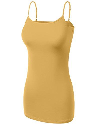 HATOPANTS Basic Cotton Adjustable Spaghetti Straps Cami T Shirts Mustard - Macy's Times Square