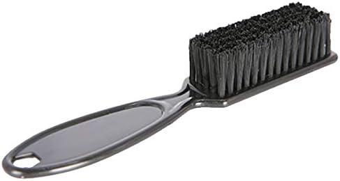 SODIAL Cepillo De Desvanecimiento Peine Tijeras Cepillo De Limpieza Cepillo De Limpieza Forma De Cabeza De Aceite Vintage Desvanecimiento De La Piel En Barbería