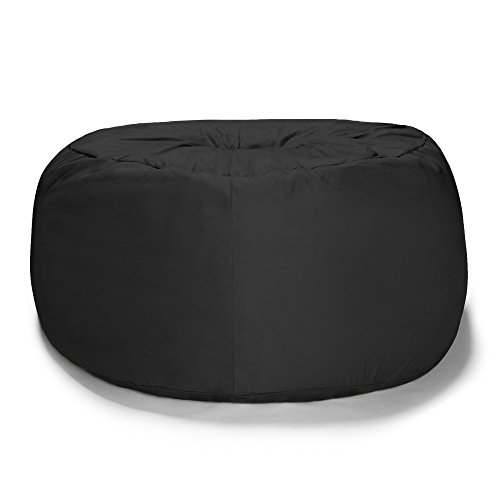 Liberator Zeppelin 7-Foot Giant Bean Bag Bed for Lovers, Black by Liberator