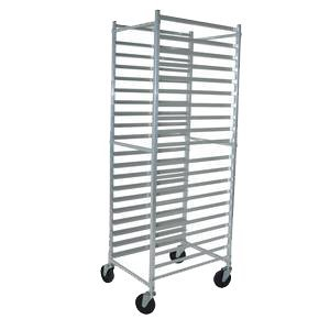 (BK Resources Full Height Bun Pan Rack Front Load Square Top 20-1/4