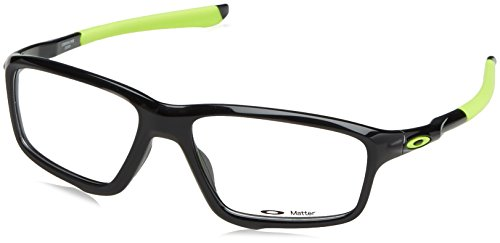 Oakley Crosslink OOX8076-0256 Eyeglasses Polished Black - Eyeglass Oakley Frames Mens