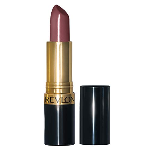 Revlon Super Lustrous Lipstick with Vitamin E and Avocado Oil, Cream Lipstick in Purple, 045 Naughty Plum, 0.15 oz