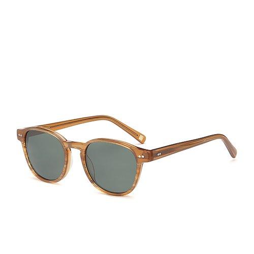 C03 Gafas Sunglasses en de de Hombres Brown C02 TL Brown recorriendo Gafas Demi Sol G15 Guía Gafas polarizadas para Acetato Sol Unisex HSzqdn5dwO
