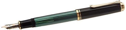 PELIKAN Souveran Broad Point Fountain Pen, Black/Green (980037) by Pelikan