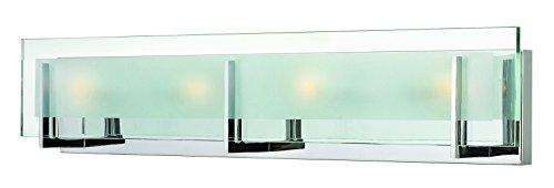 Hinkley 5654CM Contemporary Modern Four Light Bath from Latitude collection in Chrome, Pol. (Hinkley Contemporary Lighting)