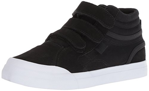 DC Boys' Evan HI V Skate Shoe, Black/White, 1.5 M US Little Kid