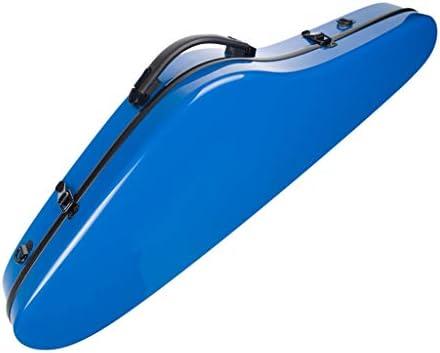 D DOLITY 4/4のフルサイズの三角形の形のバイオリンのハードケース袋の専門の部品の光沢のある青