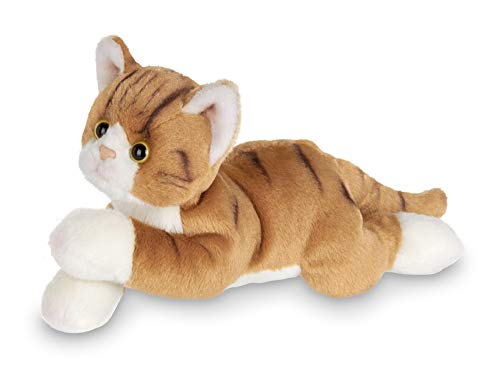 Bearington Lil' Tabby Small Plush Stuffed Animal Orange Striped Tabby Cat, Kitten 8 inches