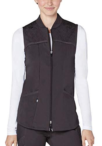 - Adar Responsive Scrubs for Women - Active Scrub Bomber Vest - R6200 - Pewter - XL