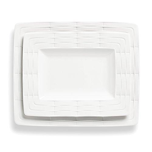 Lenox 2-Piece Entertain 365 Sculpture Platter Set, White ()