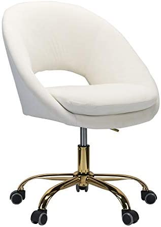 Savas Upholstered Task Chair Home Office/Dorm-Ivory