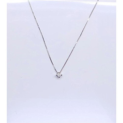 Collier artisanal Femme bcg07_ cts.0.07or blanc diamant