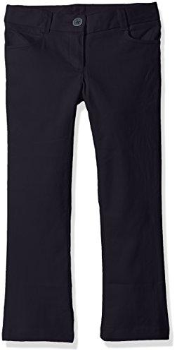 Nautica Girls' Uniform Bootcut Twill Pant
