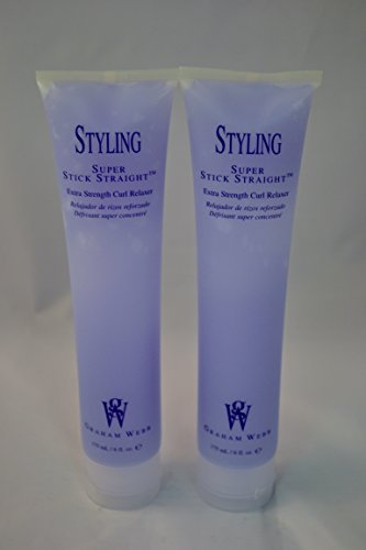 Stick Straight Smoothing Gel (Graham Webb Styling Super Stick Straight Extra Strength Curl Relaxer 6 oz. ~ 2 PACK)