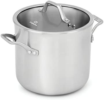 Calphalon 1948240 Signature Stainless Steel Covered Stock Pot, 8 quart, Silver