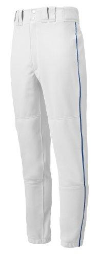 Mizuno Premier Piped Pant (White/Royal, X-Small) by Mizuno