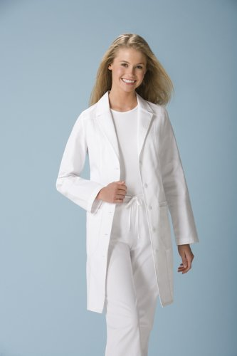 Cherokee Women's Scrubs 36 Inch Lab Coat, White, - Womens Lab Coat Long