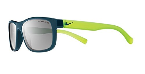 Nike EV0815-403 Champ kids Sunglasses Space Blue/Matte Crystal Volt, Grey with Silver Flash - Nike Youth Sunglasses