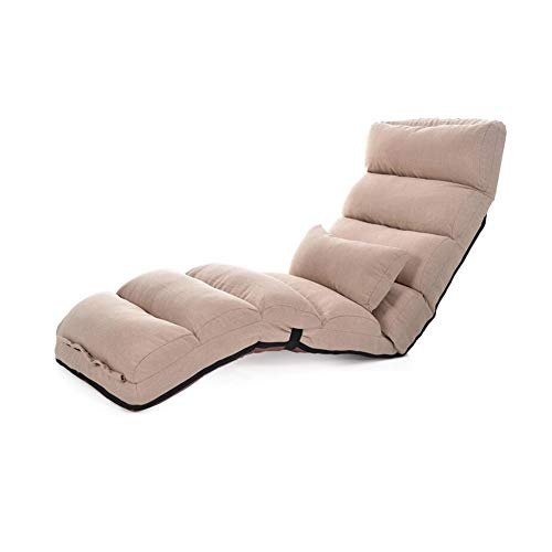 - SAN_Y Adjustable Sofa Lounge Bed Folding Floor Sleeper Futon Mattress Lazy Seat Chair (Color : T2, Size : 205CM)