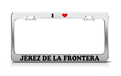 Amazon.com: I HEART JEREZ DE LA FRONTERA Spain Metal Auto ...