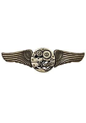 Gear Wings Antique Adult Pin Accessory Size One-size