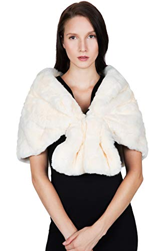 OBURLA Women's Rex Rabbit Fur Cape with Collar | Soft for sale  Delivered anywhere in USA