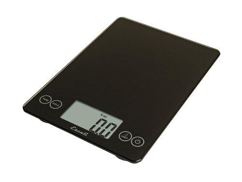 Escali 157IB Arti Glass Digital Kitchen Scale 15Lb/7Kg, Ink Black (Scales 0.1 Ounce Diet)