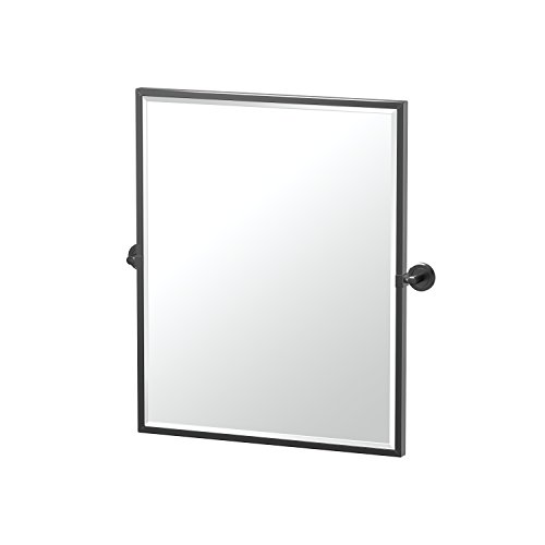 Gatco 4249XFSM Latitude II Framed Rectangle Pivot Mirror, 25 Inch, Matte -