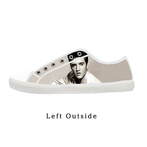 Elvis Shoes (Custom Women Elvis Presley Canvas Shoes Comfortable Sneakers US10)