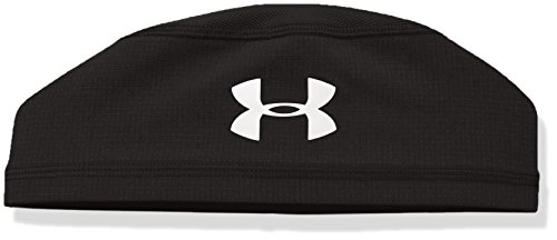 Under Armour Men's ArmourVent Skull Cap, Black /White, One Size Fits All (White Camo Under Armour Hat)