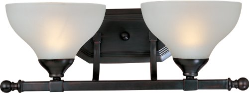 Maxim Lighting 21272FTOI Contour 2-Light Bath Vanity, Oil Rubbed Bronze Finish with Frosted Glass