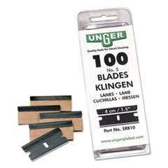 (Unger Safety Scraper Replacement Blades, 9, Pack of 100)