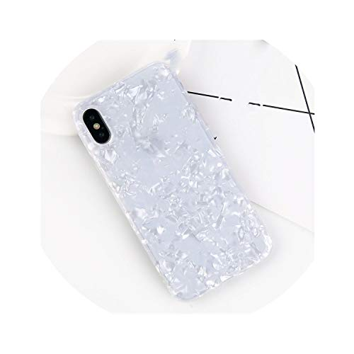 Glitter Phone Case Soft TPU Silicone Cover,SJ7486 White,for iPhone 8 Plus