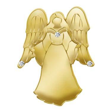 Crown Awards Guardian Angel Lapel Pins - Gold Gem Embellished Angel Lapel Pin - Lapel Pin Angel Gold