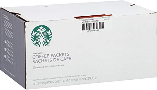 Starbucks Pillow Pack, Breakfast Blend, 72 Individually Wrapped Packs of 2.5 oz. (360 total oz.) by Starbucks (Image #5)