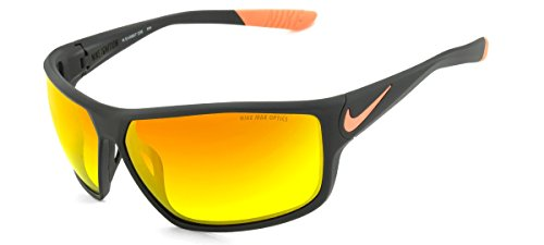 Nike Golf Ignition R Sunglasses, Deep Pewter/Total Orange Frame, Grey with Ml Orange Flash - Nike Youth Sunglasses