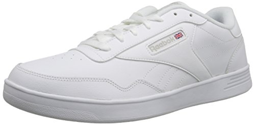 (Reebok Men's Club Memt Fashion Sneaker, White/Steel, 6.5 M US)