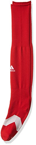 adidas Metro IV Soccer Socks (1-Pack), Power Red/White/Clear Grey, Small ()