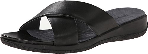 SoftWalk Women's Tillman,Black Nappa Leather,US 8.5 WW (Black Nappa Leather Footwear)