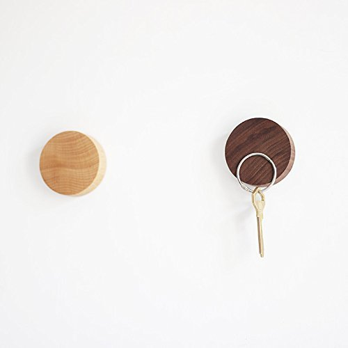 Wooden Brothers 2PCS Key Holder (Keys) Wall Mounted Magnetic Wooden Key Holder | No Key Hooks | Decorative and Sticking Wooden Key Holding Organization by Wooden Brothers