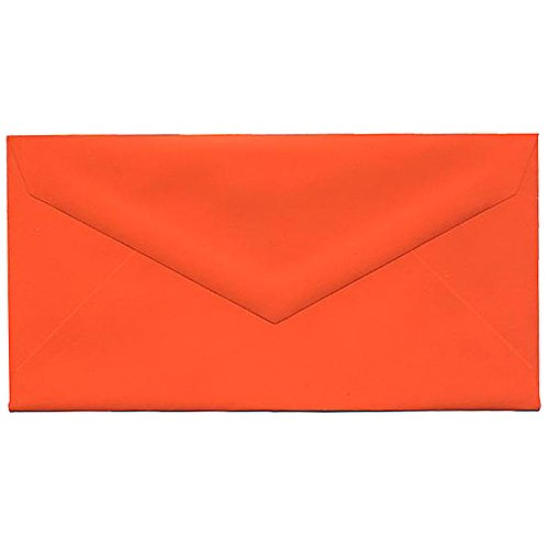 JAM PAPER Monarch Colored Envelopes - 3 7/8 x 7 1/2 - Orange Recycled - 25/Pack]()