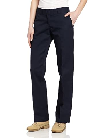 Dickies Women's Original Work Pant with Wrinkle And Stain Resistance,Dark Navy,12 Tall - Dickies Tall Pants