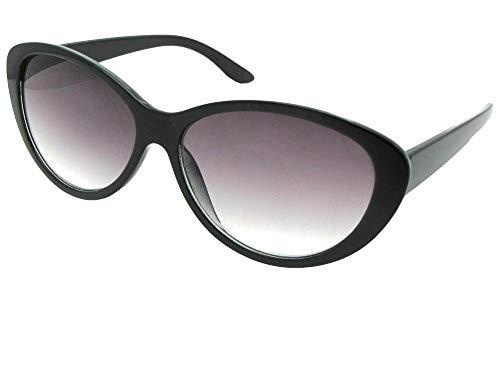 - Fashion Cat Eye Full Reading Lens Sunglasses For Women R99 (Black Frame Gray Lenses, 1.50)