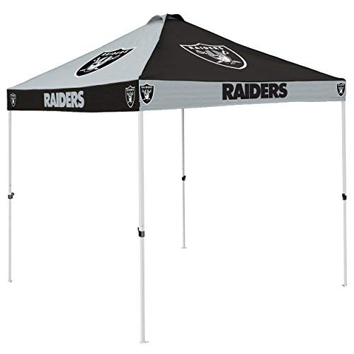 Logo Brands NFL Oakland Raiders Checkerboard Tent Checkerboard Tent, Charcoal, One Size [並行輸入品] B07R4T4DD6