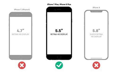 OtterBox SYMMETRY CLEAR SERIES Case for iPhone 8 Plus & iPhone 7 Plus (ONLY) - CLEAR by OtterBox (Image #7)